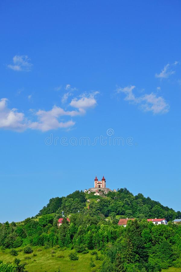 Church on the Hill in Slovakia stock image