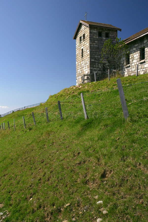 Church on a hilltop 2 royalty free stock photo