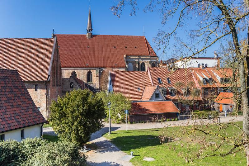 Church of the historic Klosterhof monastery in Rostock. Germany royalty free stock image