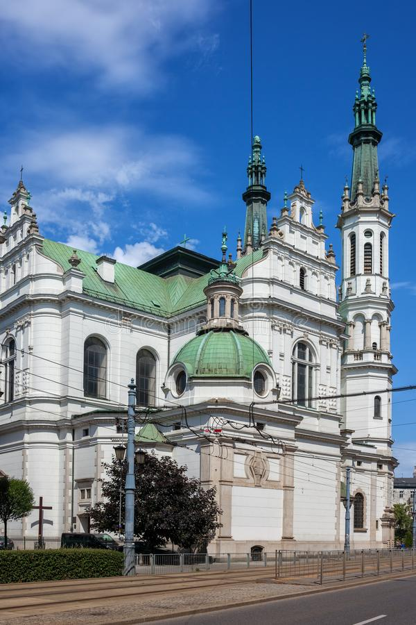 Church of the Holiest Savior in Warsaw. Poland, Baroque and Renaissance style city landmark from 1927 stock photography