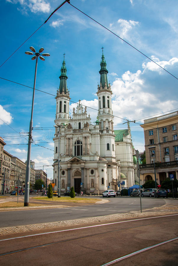 Church. Of the Holiest Saviour in Warsaw stock images