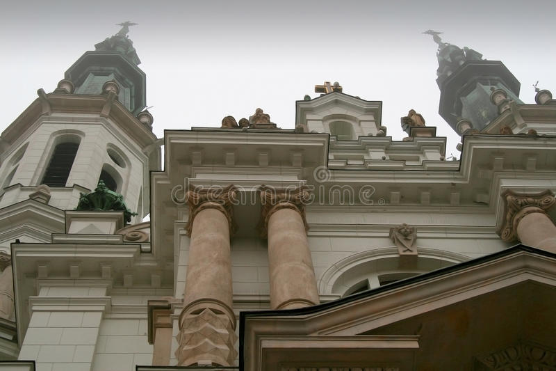 Church of the Holiest Saviour in Warsaw. Monumental church of the Holiest Saviour in Warsaw, Poland, seen from street level stock images