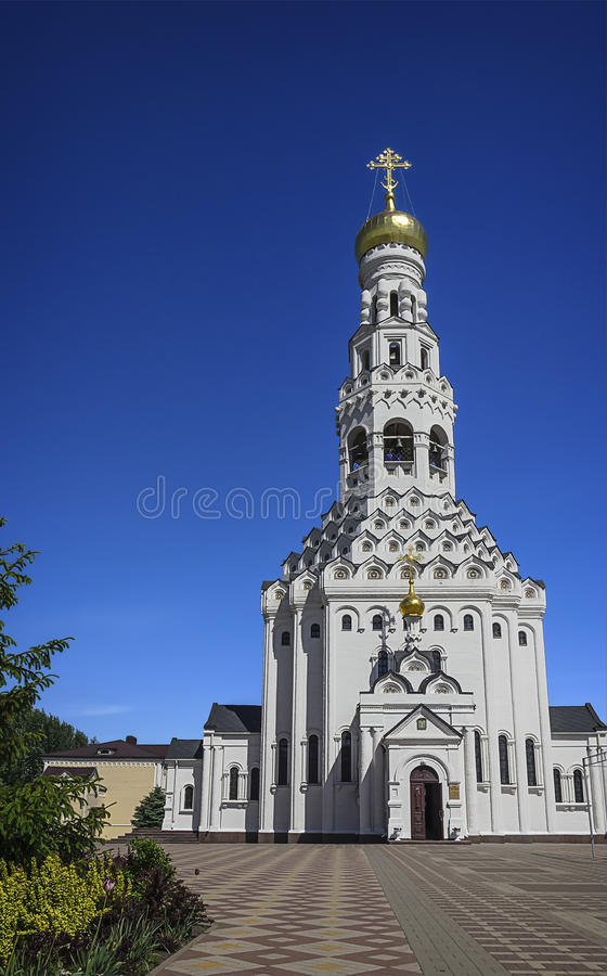 Church of the Holy Apostles Peter and Paul. Temple-monument to soldiers who died during a large-scale tank battle under Prokhorovka. Prokhorovka, Russia royalty free stock images