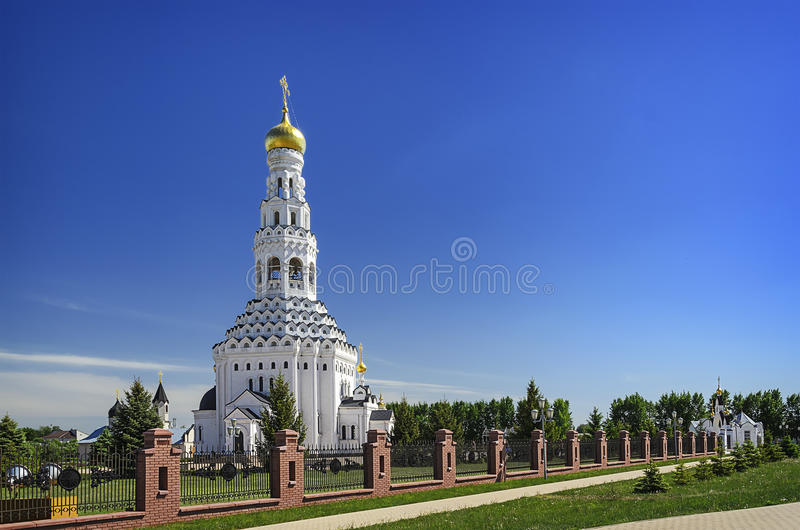 Church of the Holy Apostles Peter and Paul. Temple-monument to soldiers who died during a large-scale tank battle under Prokhorovka. Prokhorovka, Russia stock photos