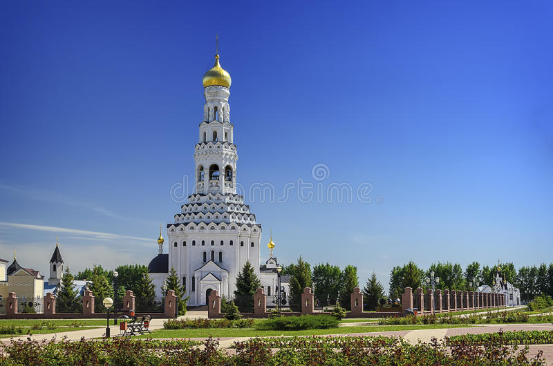 Church of the Holy Apostles Peter and Paul. Temple-monument to soldiers who died during a large-scale tank battle under Prokhorovka. Prokhorovka, Russia royalty free stock photography