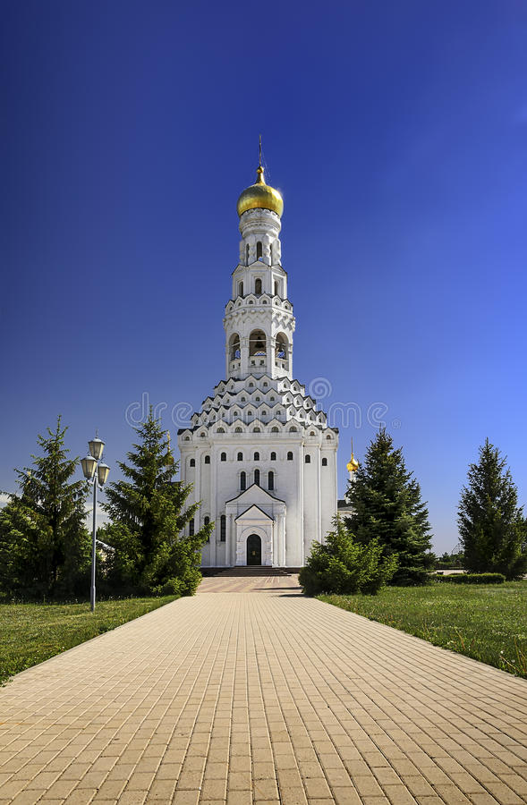Church of the Holy Apostles Peter and Paul. Temple-monument to soldiers who died during a large-scale tank battle under Prokhorovka. Prokhorovka, Russia stock photo
