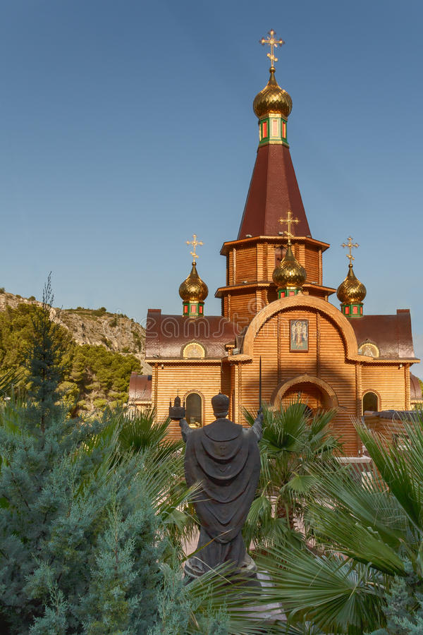 Church of the Holy Archangel Michael in Altea, Alicante royalty free stock photos