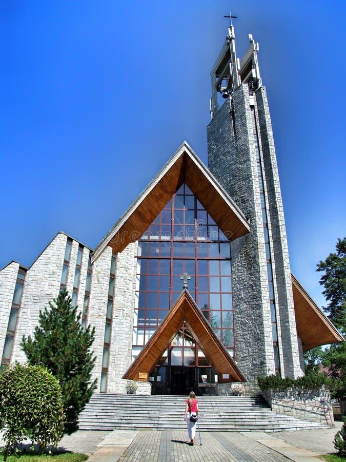 Church of Holy Cross in Zakopane in Poland. royalty free stock photo
