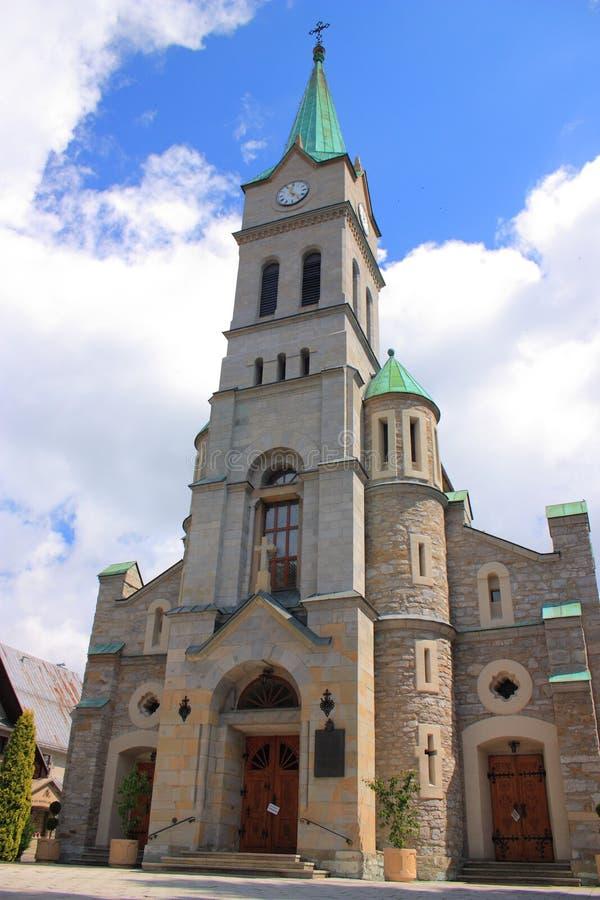 Church of the Holy Family in Zakopane. royalty free stock photo