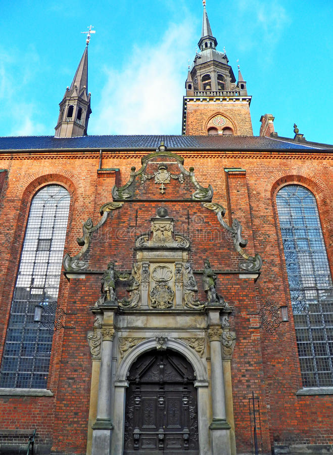 Church of the Holy Ghost in Copenhagen, Denmark royalty free stock photography