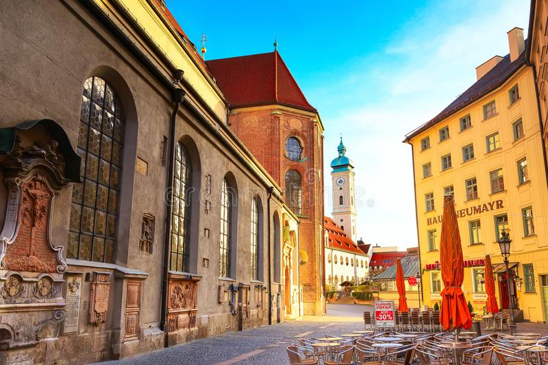 Church of the Holy Ghost in Munich, Germany stock image