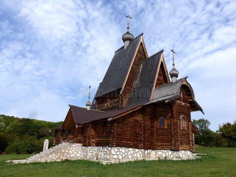 Church of the Holy and life-giving cross near the village of Podgora Samara region stock photos