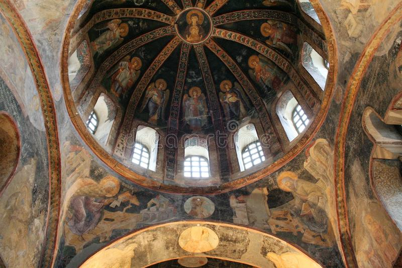 Church of the Holy Saviour in Chora , Istanbul royalty free stock image