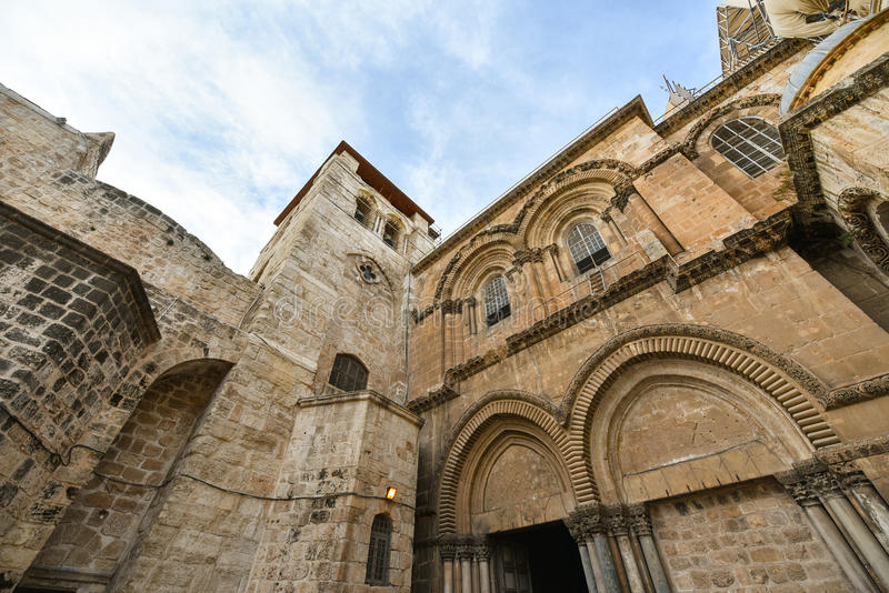 Church of the Holy Sepulcher, Israel. Exterior of the Church of the Holy Sepulchre, also called the Church of the Resurrection or Church of the Anastasis by royalty free stock photography