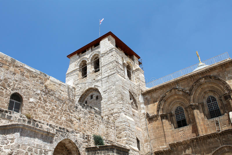 The Church Of The Holy Sepulcher Tower Royalty Free Stock Photo