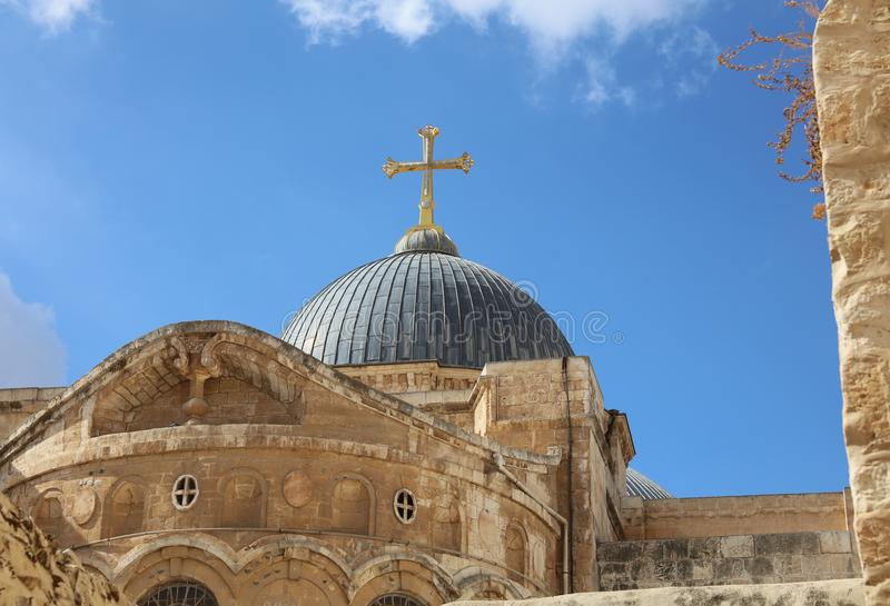 Church of the Holy Sepulchre in Jerusalem royalty free stock image