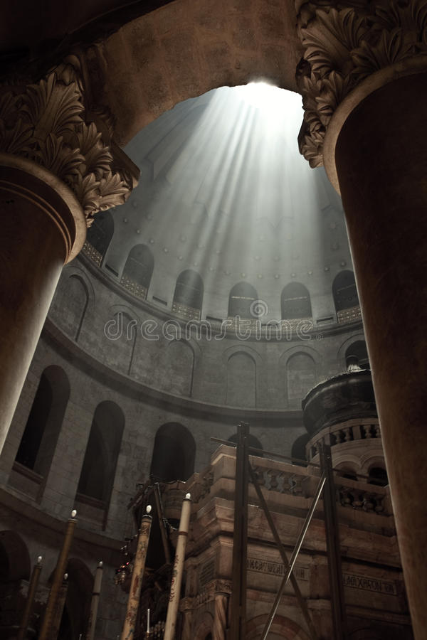 Church of the Holy Sepulchre of the Old City of Jerusalem. Israel royalty free stock photography