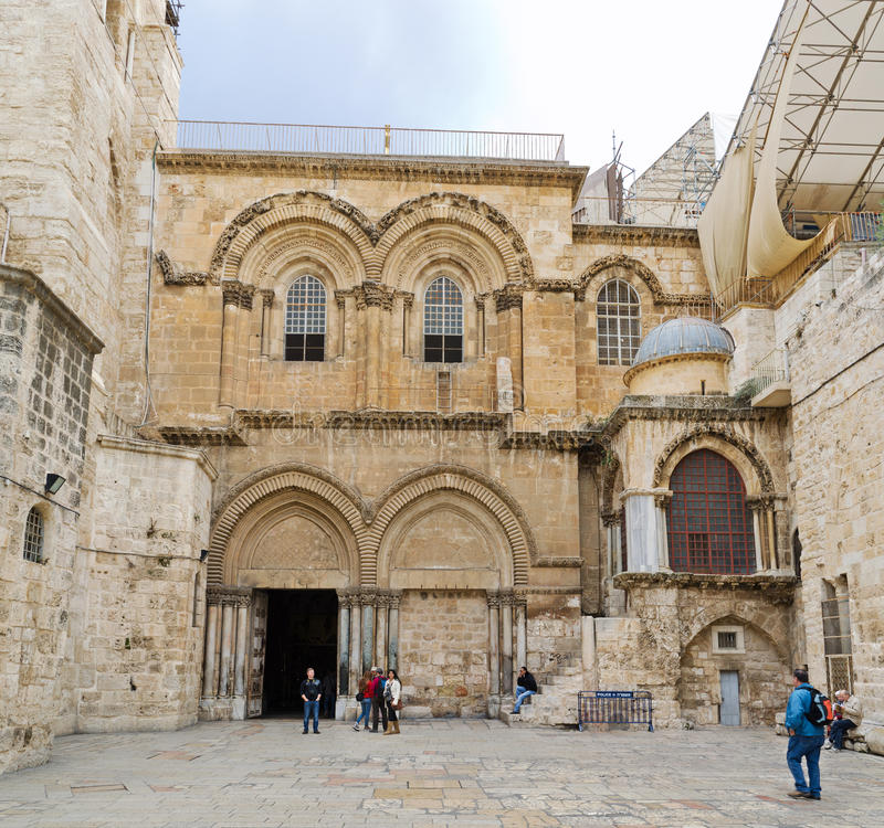Church of the Holy Sepulchre Panorama. Panoramic view of the Church of the Holy Sepulchre piazza stock photography