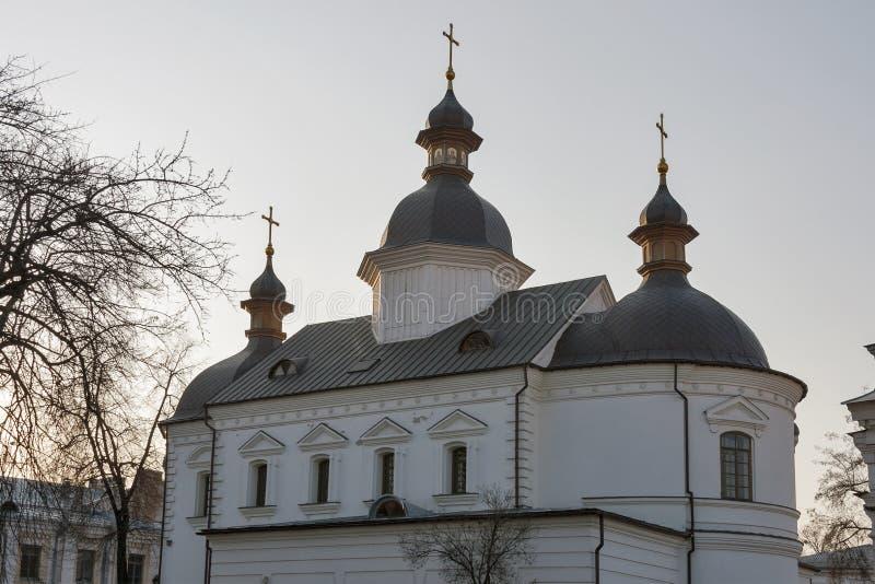 Church of the Holy Spirit in Bratsky monastery. Kiev, Ukraine. stock images