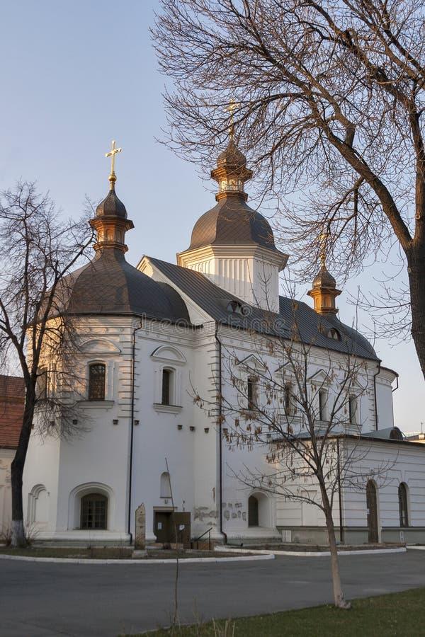 Church of the Holy Spirit in Bratsky monastery. Kiev, Ukraine. royalty free stock images