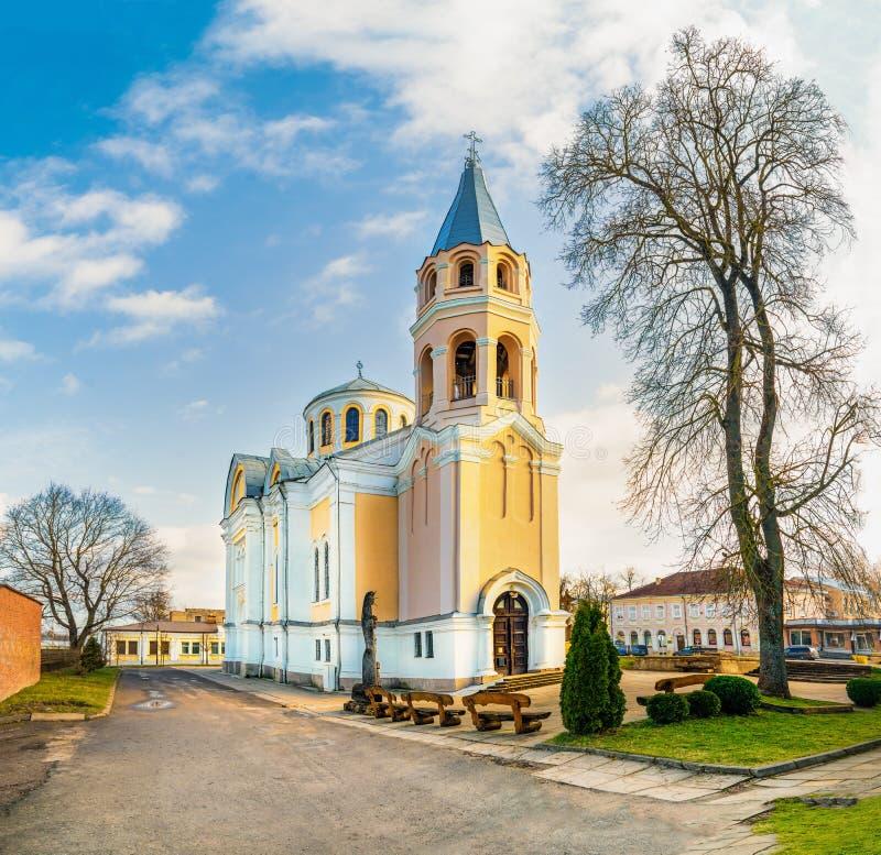 Church of Holy Trinity in Ukmerge. Lithuania stock photo