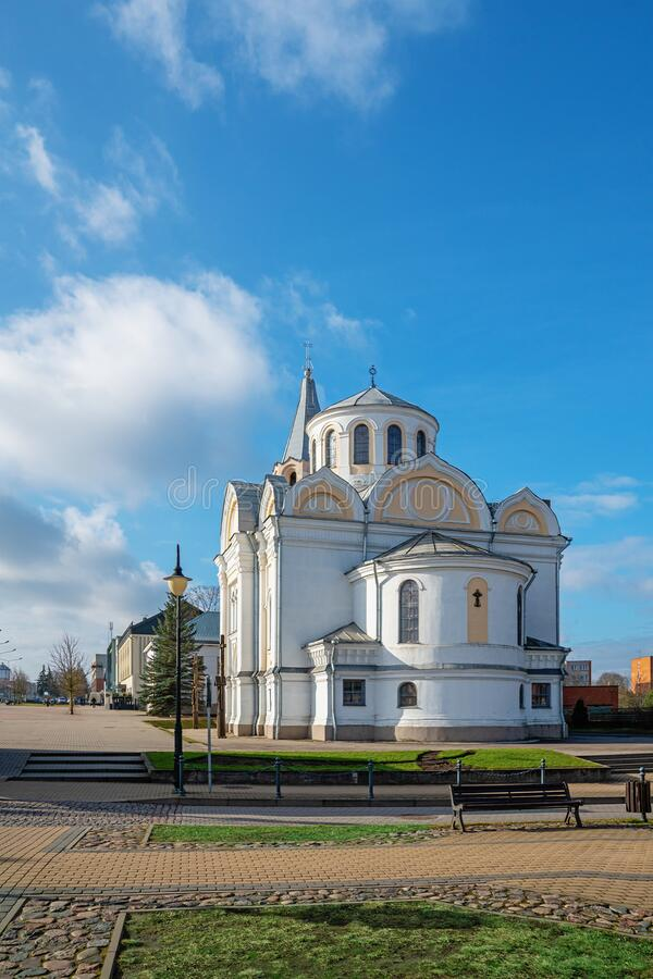 Church of Holy Trinity in Ukmerge. Lithuania royalty free stock images