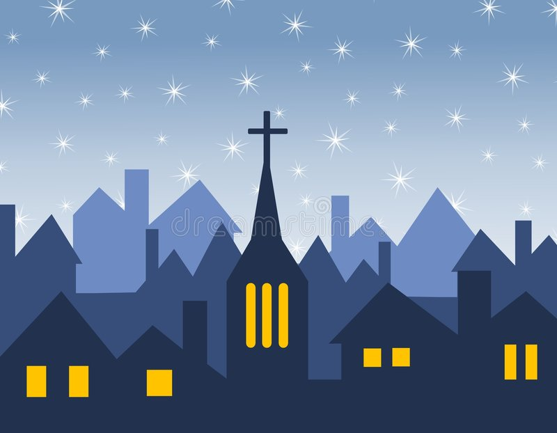 Download Church And House Silhouettes Stock Vector - Image: 3751826