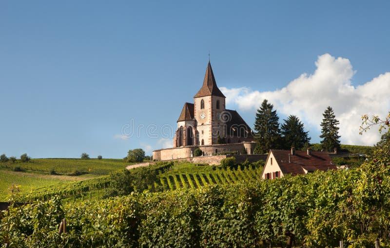 Download Church of Hunawihr stock photo. Image of hunawihr, vineyards - 24169136