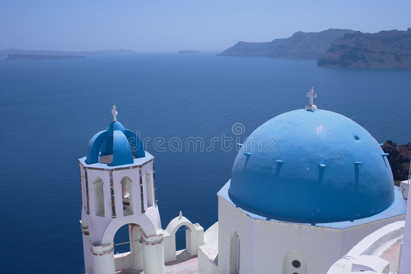 Download Church at Ia (horizontal) stock image. Image of spire, thira - 30865