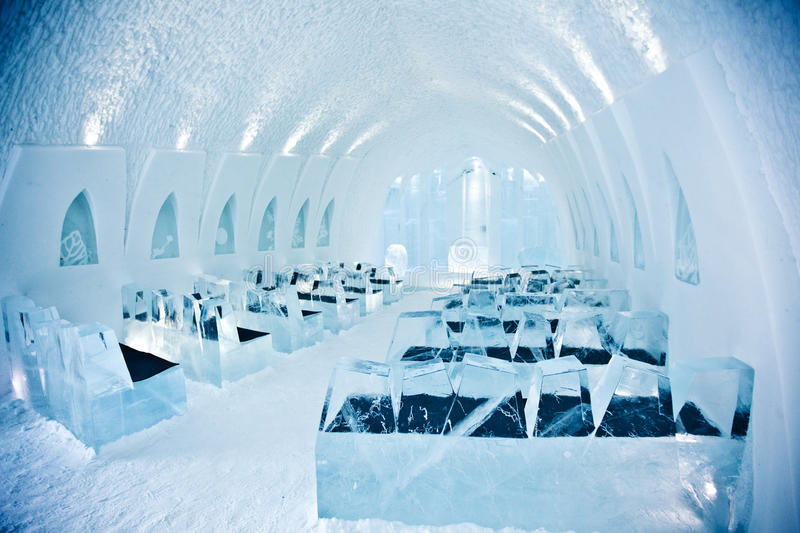 church in ice hotel royalty free stock image