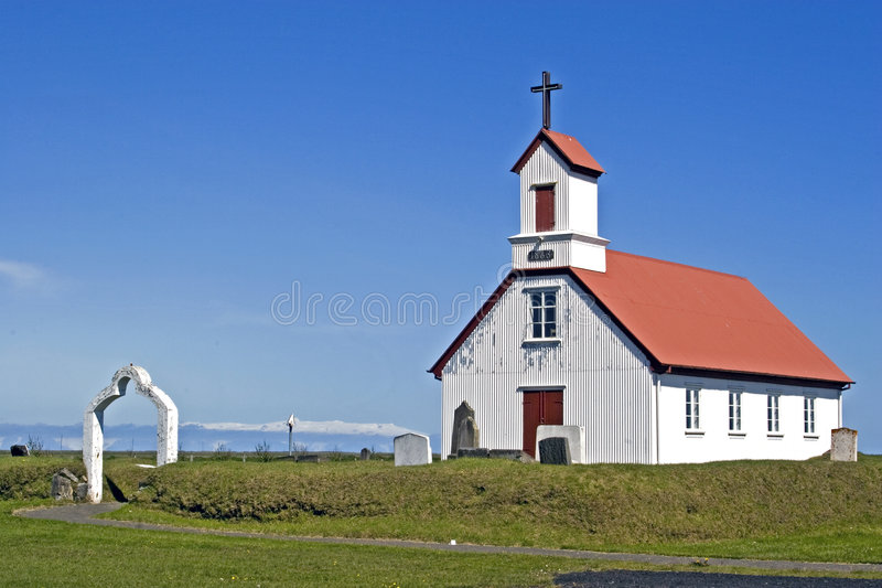 Download Church on Iceland stock photo. Image of white, chapel - 3521036