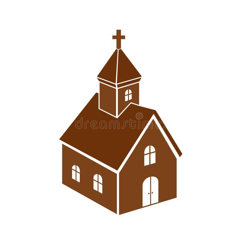 Download Church icon stock vector. Image of monochrom, cross, icon - 34258416