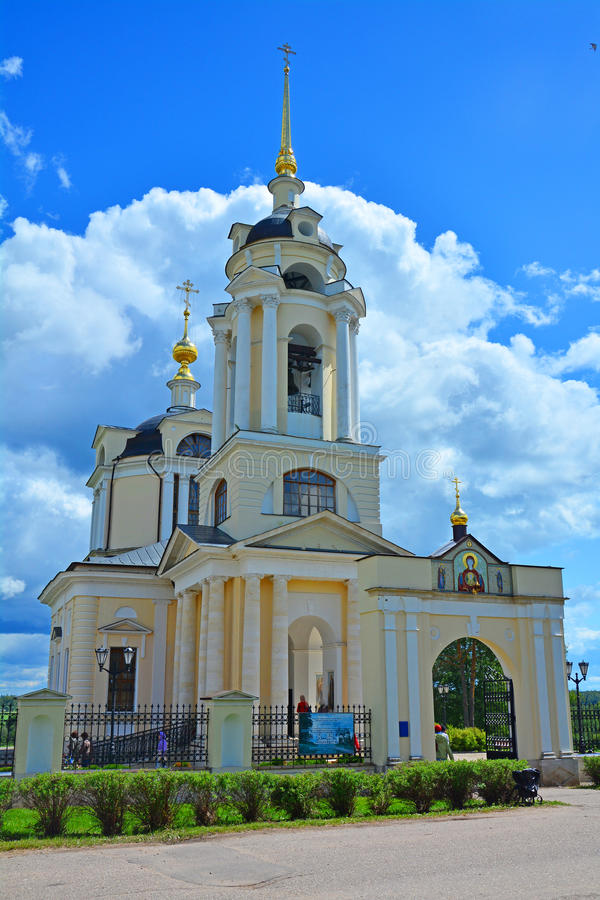 Church of the Icon of the Mother of God Sign in the village of Komlevo in Ruza district, Moscow region, Russia royalty free stock photo