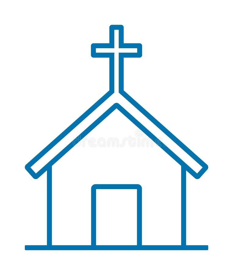 Church icon stock illustration