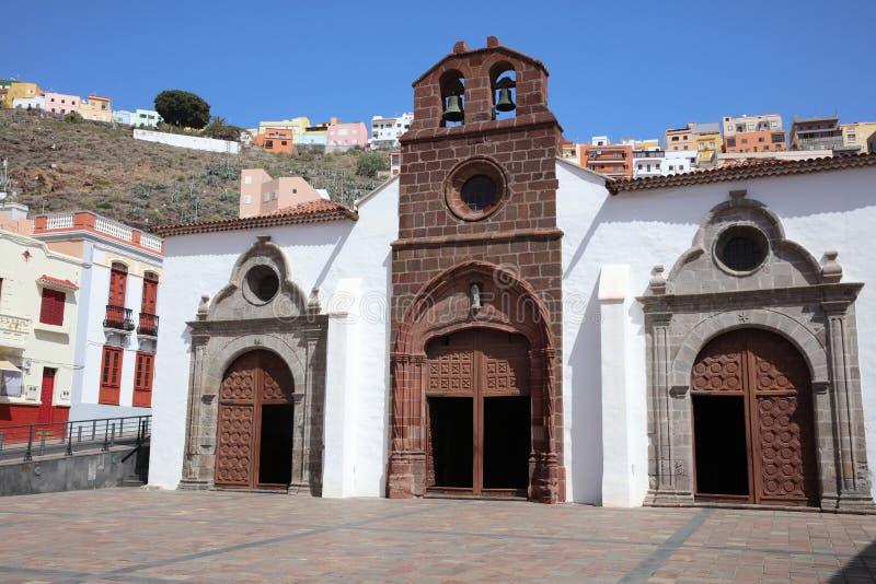 Church Iglesia de la Asunción in San Sebastián de La Gomera. Canary Islands. Spain stock images