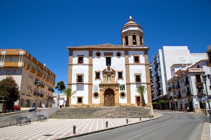 Church Iglesia de la Merced en Ronda, España fotografía de archivo libre de regalías
