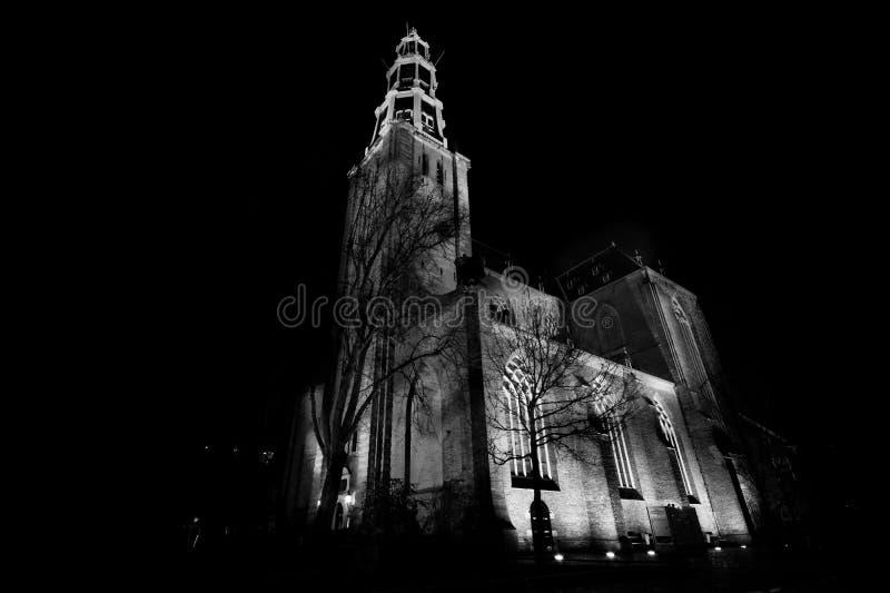 Church Illuminated At Night Free Public Domain Cc0 Image