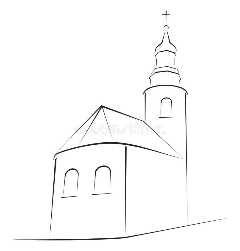 Church Illustration Stock Images