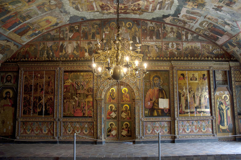 Church the Ilya the Prophet. Paintings inside royalty free stock photography