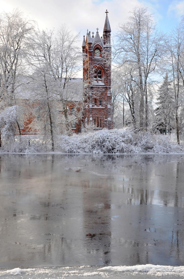 Free Church In Winter Royalty Free Stock Photo - 25058185