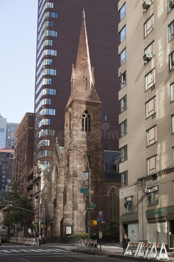 Church of the Incarnation in new york city on 209 Madison Ave stock photos