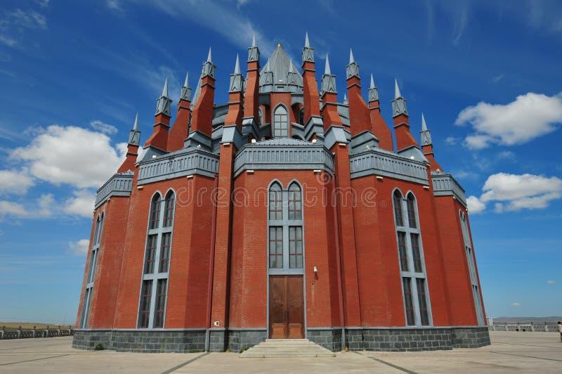 Church at Inner Mongolia stock photo