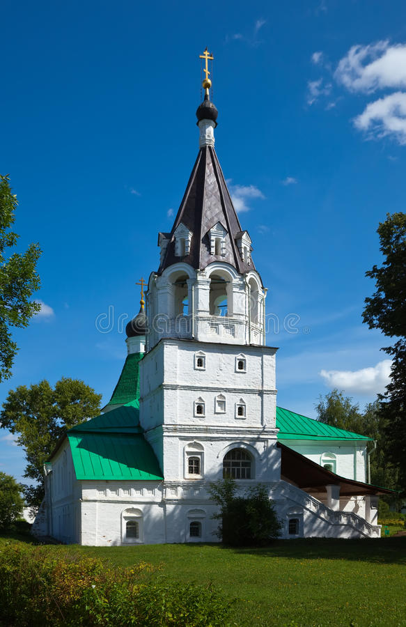 Church of the Intercession in Aleksandrov stock images