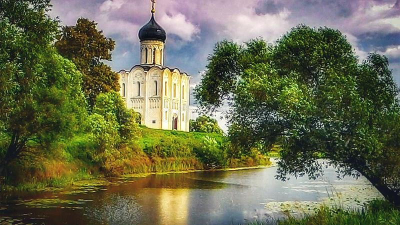 Church of the Intercession on the Nerl royalty free stock photo