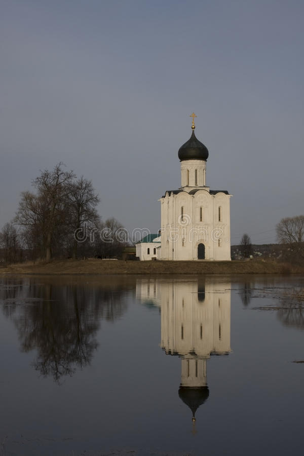 Church of Intercession upon Nerl River royalty free stock photos