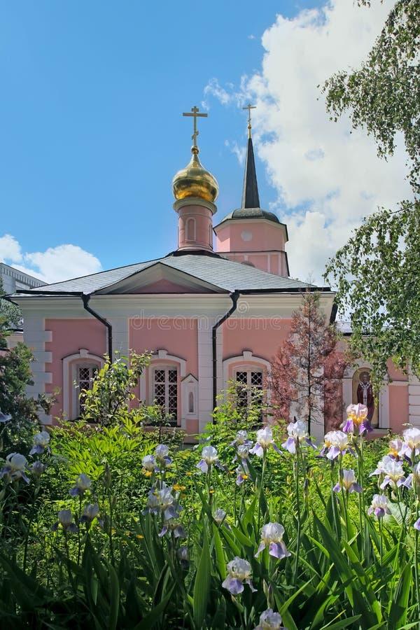 Church of the intercession in Pokrovskoe Streshnevo village. Mos stock photo