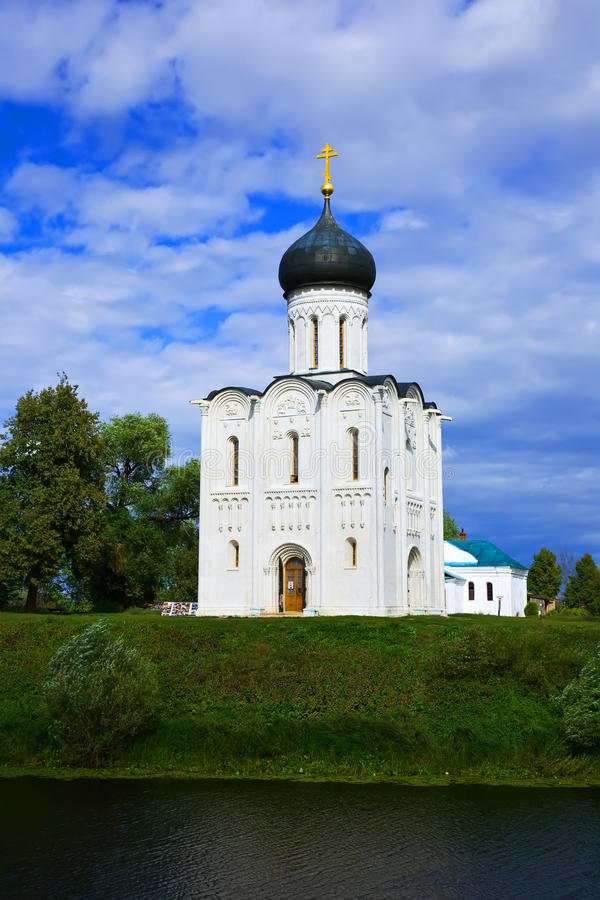 Church of Intercession on River Nerl royalty free stock image