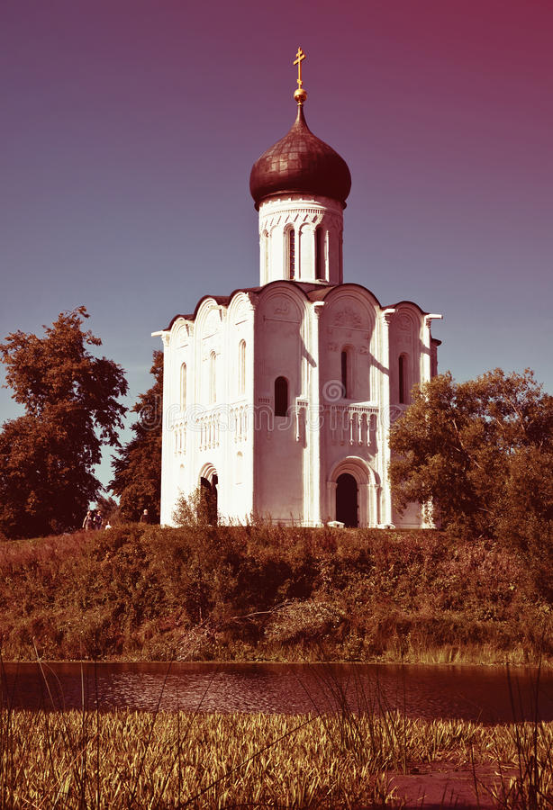 Church of the Intercession on River Nerl royalty free stock photography