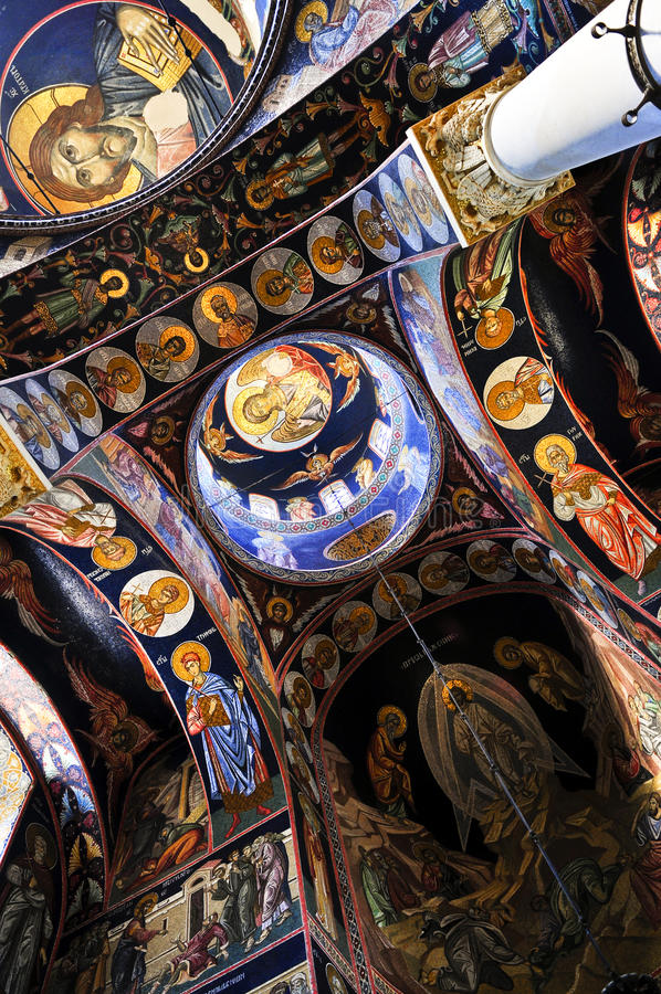 Download Church interior stock image. Image of ceiling, painted - 10869705