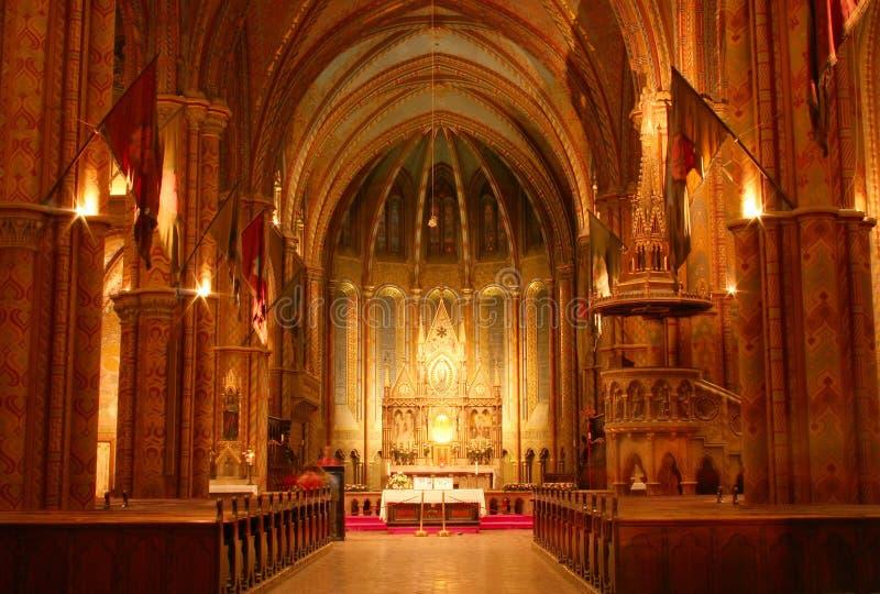 church interior στοκ εικόνα